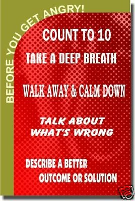 Before You Get Angry... Motivational Classroom - POSTER