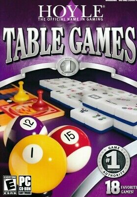 Hoyle Table Games - Pool Chess Dominoes Mahjongg PC New