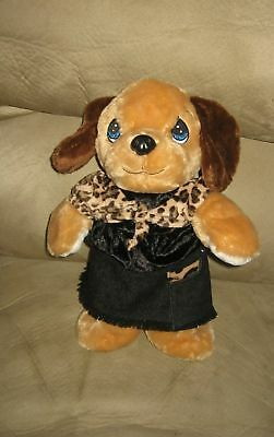 """14"""" Precious Moments Tender Tails Puppy in Denim Skirt"""