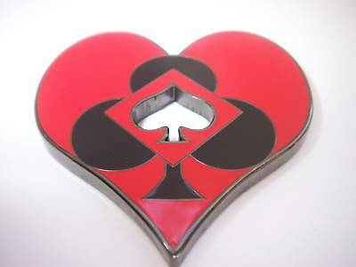 Heart Shaped Poker Weight Card Cover Protector Guard