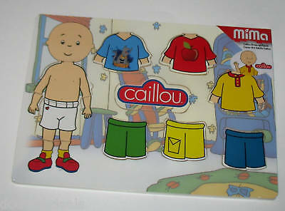 New  Caillou  Wood Puzzle Dress-Up Activity Fun 9Pc