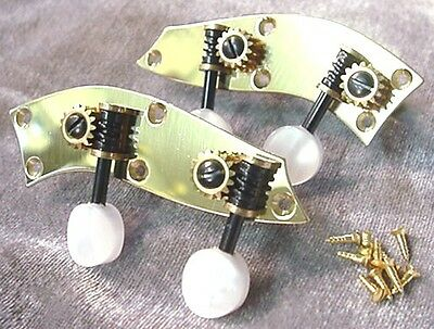 4/4 BRASS VIOLIN MACHINE PEGS easy tune - geared