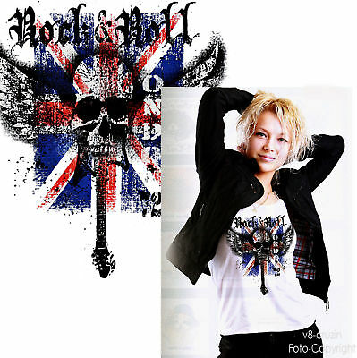 * Rock`nRoll Union Jack England Great Britain London Punk Girl Shirt *2072