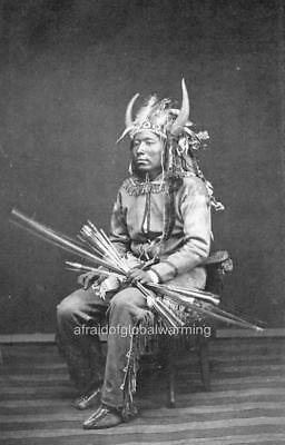 Photo 1874 Comanche Indian in War Dress