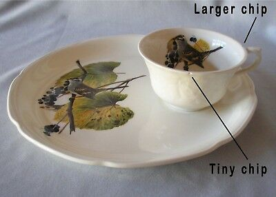 Snack Set Meakin Birds of America White Crowned Sparrow