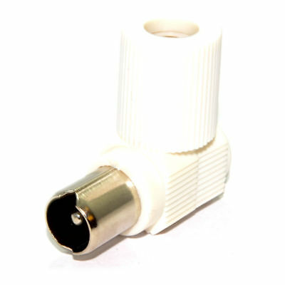 RF Coax Right Angle PLUG for TV Aerial Cables/Freeview