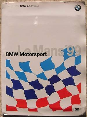 BMW MOTORSPORT LE MANS Press Media Pack Photos May 1999