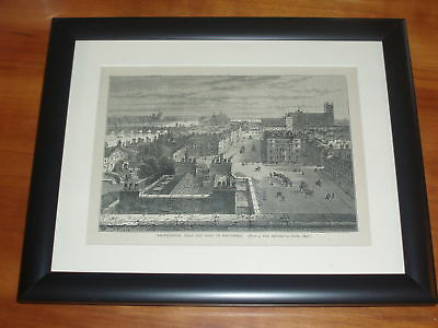 Date 1897 Print Engraving Westminster from Whitehall Roof available unframed x