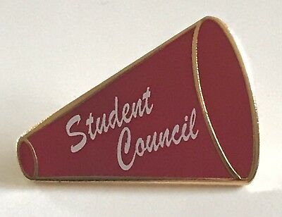 """STUDENT COUNCIL"" Megaphone Enamel Lapel Pins (25)"