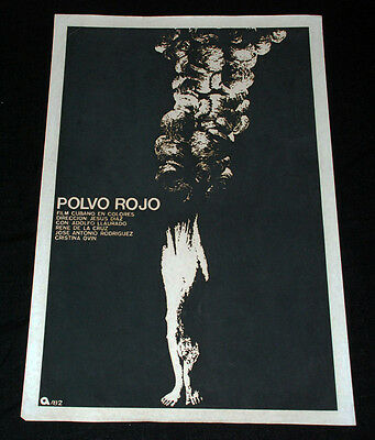 """1982 Original Cuban Movie Poster""""Red Dust""""Cuba art film.Collectible.Authentic"""