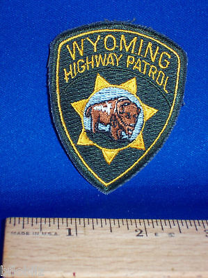 """Wyoming Highway Patrol Trooper Police Officer Sew/Iron-on 2.75"""" Logo Hat Patch"""