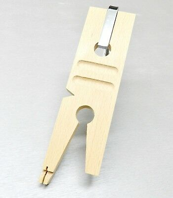 Jewelers Bench Pin Clamp V-Slot With Clamp Wood Ring Saw Groove Cutting & Sawing