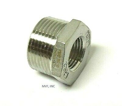 """Hex Bushing 150# 304 Stainless 3/4"""" X 1/8"""" Npt   767.wh"""