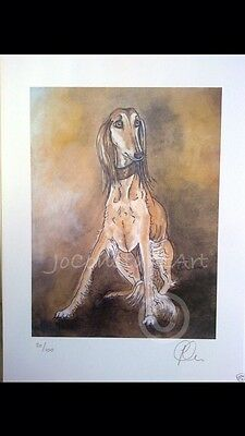 Sable Saluki - Limited Edition Print by 'Jo Constant'
