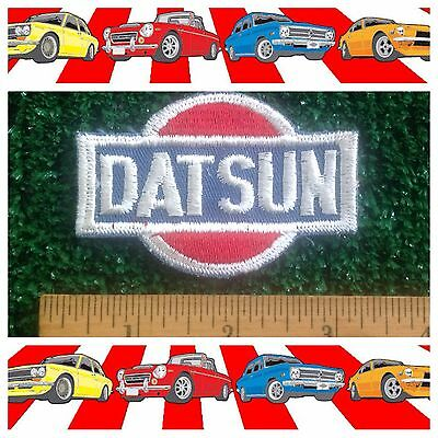 "DATSUN Japanese Imported Car Vintage 1958-86 Vintage 3x2"" Sew/Iron-on Logo Patch"