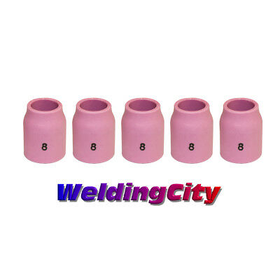 5-pk TIG Welding Ceramic Gas Lens Cup 53N61S #8 Torch 9/20 | US Seller Fast Ship