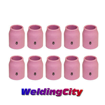 10 TIG Welding Ceramic Gas Lens Cup 53N61S #8 Torch 9/20 | US Seller Fast Ship