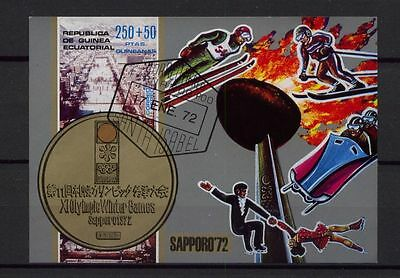 Equatorial Guinea 1972 Winter Games Olympics Cto M/S