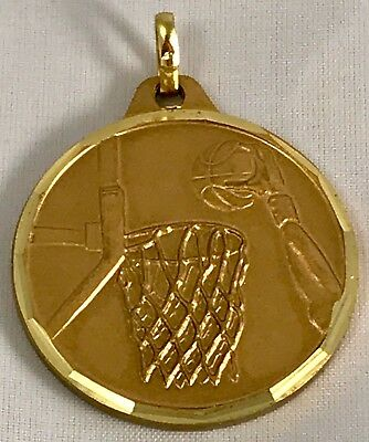 BASKETBALL Gold Medallions/Lot of 10/All New!