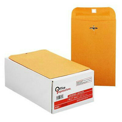 Kraft Clasp Envelopes 6 X 9 2 Boxes Each 100 Count Free Shipping New 200 Total