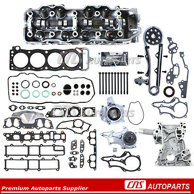 For 85-95 2.4L Toyota Pickup Cylinder Head+Head Gasket Bolts Timing Chain Kits