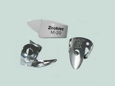 Dunlop ZOOKIES PICK SET - Thumb M-20, Nickel Fingerpicks .020, Dobro Banjo Lap