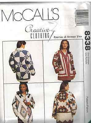 8338 UNCUT Vintage McCalls Pattern Quilt Jackets Creative Clothing OOP SEWING FF