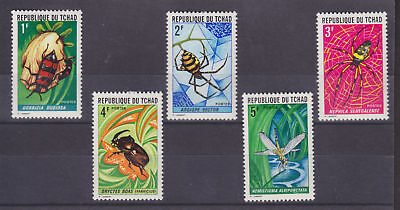 Chad Sc 252-256 MLH. 1972 Insects cplt VF
