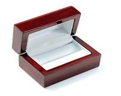 Cherry Rosewood Wood Wooden Double Ring Jewelry Box