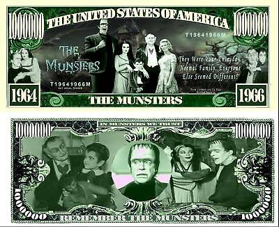 IN MEMORY OF THE MUNSTERS DOLLAR BILL (2/$1.00)