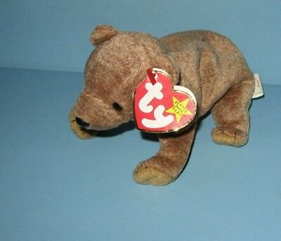 Ty Beanie Babies Baby Peacn the Bear Plush w/ Tag