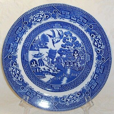 JHW JH Weatherby & Sons Flow Blue WILLOW Dinner Plate B