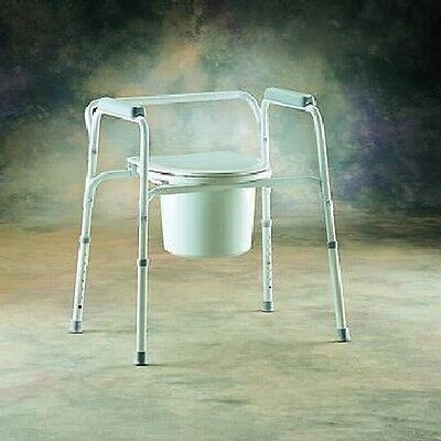 Invacare AllinOne Bedside Bedroom Travel Commode Chair