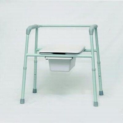 CASE 2 Heavy Duty Bariatric Bedside All-in-one Commode