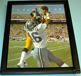 STEELERS LYNN SWANN FRAMED ACTION PRINT vs COWBOYS