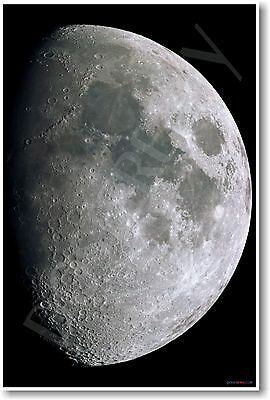 The Moon -  NASA Lunar Space Science Planets Astronomy POSTER