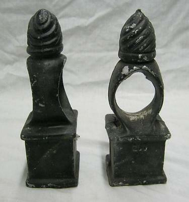Black Beehive Cast Metal  Finials Fence Post Old NY