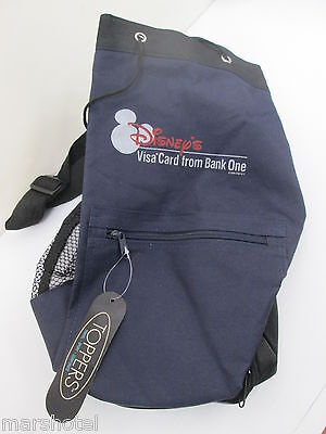Disney Visa Bank One Card Holder Drawstring Backpack