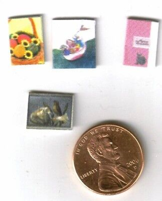 Dollhouse Miniature Easter Card Set ~ Sentiments Inside  TIN1064