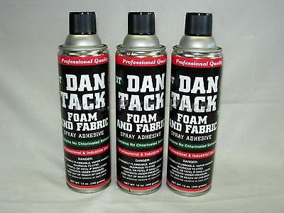 3- 10.2oz Cans Foam&Fabric Spray Glue/Adhesive DAN TACK Model 2012