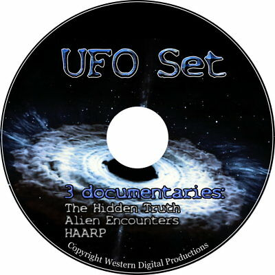 DVD 3 SET UFO Alien Encounter Invasion Roswell HAARP Area51 Black Budget Project