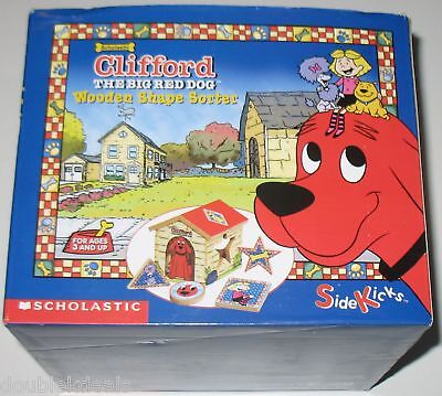 New In Box Clifford The Big Red Dog Wooden Shape Sorter