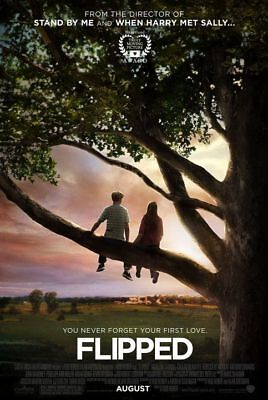 FLIPPED (Rob Reiner) ORIGINAL DOUBLE SIDED MOVIE POSTER