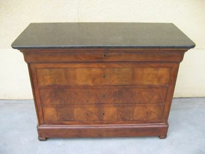 French Louis Philippe Chest of Drawer Mahogany c. 1880