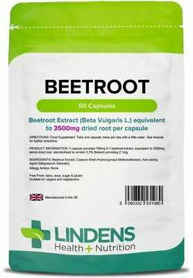 Beetroot max-strength 3500mg (50 capsules) - [Lindens 1080]