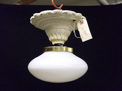 VERY Decorative Cast Iron Ceiling Light Antique NICE!