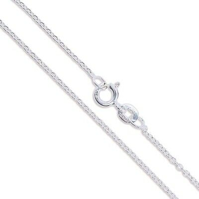 Sterling Silver Light Cable Chain 1.2mm Solid 925 Italy Rolo Link New Necklace