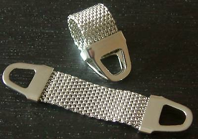 New Set Removeable Mesh For Wrap Around Cufflinks Mens Gift Vintage Style