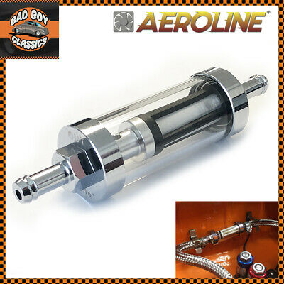 Ford Escort MK1 Chrome Glass Inline Fuel Filter 6mm