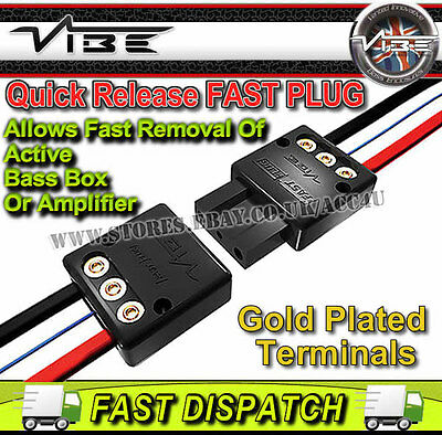 Vibe Fast Plug 12v Car Active Bass Box Amplifier Quick Release Power Connector
